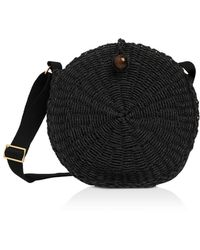 Whistles James Woven Circle Crossbody - Black