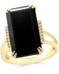 Bloomingdale's - Black Onyx And Diamond Statement Ring In 14k Yellow Gold - Lyst