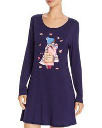 Jane And Bleecker Shopping Bag Graphic Sleepshirt - Blue