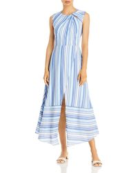 MILLY Noelle Spring Striped Dress - Blue