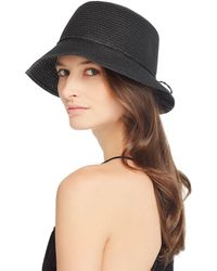 August Hat Company Paper Cloche Hat - Black