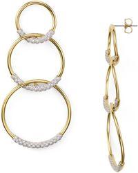 Nadri - Pavé Tri Circle Drop Earrings - Lyst