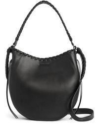 AllSaints Courtney Leather Hobo Bag - Black