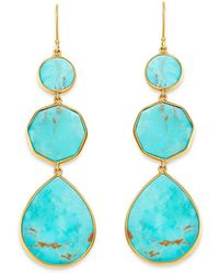 Ippolita - 18k Yellow Gold Polished Rock Candy Drop Earrings In Turquoise - Lyst