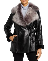 Maximilian Lamb Shearling Jacket - Black