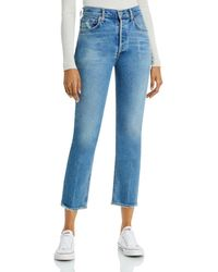 Citizens of Humanity - Jolene High Rise Straight Leg Jeans In Dimple - Lyst