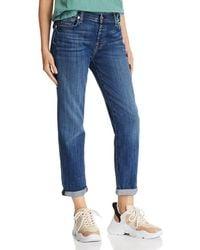 7 For All Mankind Josefina Boyfriend Jeans In Broken Twill Vanity - Blue