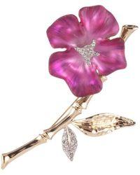 Alexis Bittar Bamboo Blossom Pin - Pink