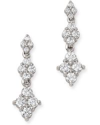 Bloomingdale's Diamond Graduated Cluster Drop Earrings In 14k White Gold