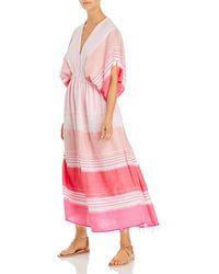 lemlem Eshal Plunge Neck Dress - Pink