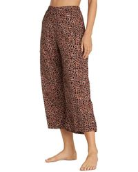 Billabong Wild Heartbeats Cheetah - Print Trousers - Brown