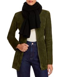 C By Bloomingdale's Oversized Cashmere Wrap - Black