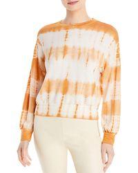Three Dots Tie Dyed Terry Sweatshirt - Multicolour