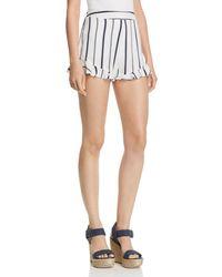 Blu Pepper - Striped Ruffle-hem Shorts - Lyst