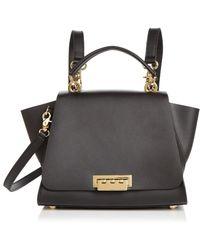 Zac Zac Posen Eartha Iconic Top Handle Convertible Leather Backpack - Black