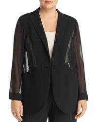 Marina Rinaldi Canarie Sheer Jacket - Black