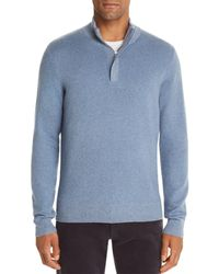 Bloomingdale's Marled Half - Zip Sweater - Blue