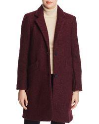 Marc New York Paige Bouclé Coat - Purple