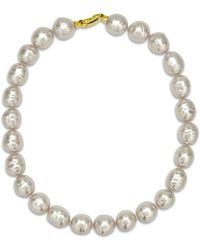 Majorica Baroque Simulated Pearl Collar Necklace - Metallic