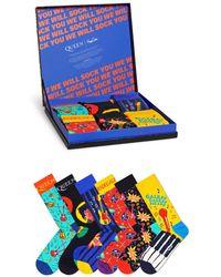 Happy Socks Queen Crew Socks Gift Box - Pack Of 6 - Multicolor