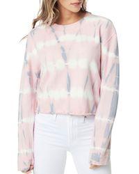 Joe's Jeans The Tie Dye Cropped Sweatshirt - Pink