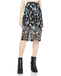 BCBGeneration   Embroidered Mesh Pencil Skirt   Lyst