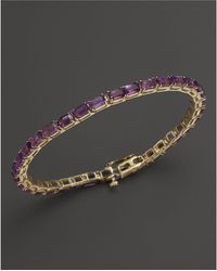 Bloomingdale's - Amethyst Bracelet In 14k Yellow Gold - Lyst