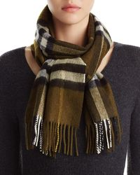 Burberry - Giant Icon Check Cashmere Scarf - Lyst
