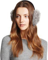 Surell Rabbit Fur Ear Muffs - Gray