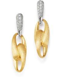 Marco Bicego - 18k Yellow Gold & 18k White Gold Legami Diamond Drop Earrings - Lyst
