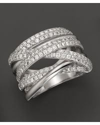 Bloomingdale's - Diamond Crossover Band In 14k White Gold, 1.45 Ct. T.w. - Lyst