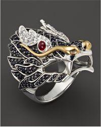 John Hardy - Sterling Silver & 18k Gold Naga Lava Dragon Ring - Lyst