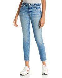 AMO Tomboy Cropped Jeans In Damsel - Blue