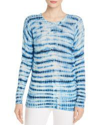 C By Bloomingdale's Tie - Dye Cashmere Jumper - Blue