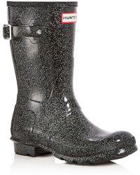 HUNTER - Women's Original Short Starcloud Glitter Rain Boots - Lyst