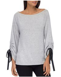 B Collection By Bobeau - Jess Tie Sleeve Top - Lyst