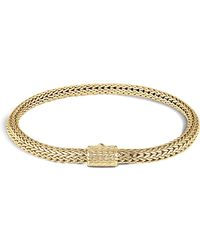 John Hardy - Classic Chain 18k Gold Extra Small Bracelet - Lyst