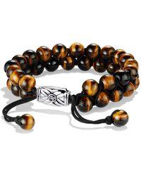 David Yurman - Spiritual Beads Two-row Bracelet With Tiger's Eye - Lyst