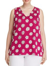 Vince Camuto Signature - Floral-print Sleeveless Top - Lyst
