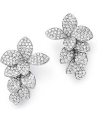 Pasquale Bruni - 18k White Gold Stelle In Fiore Diamond Earrings - Lyst