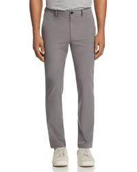 Theory Zaine Active Slim Straight Fit Trousers - Gray