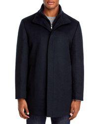 Cardinal Of Canada Mont Royal Wool & Cashmere Regular Fit Car Coat - Blue