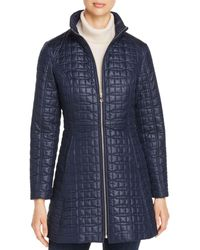 Kate Spade Fit - And - Flare Bow - Quilted Coat - Blue