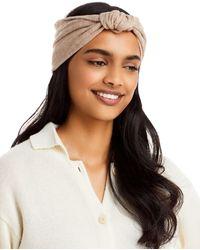 Aqua Knotted Headband - Brown