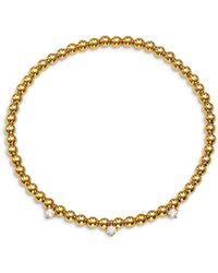 Nadri Lala Cubic Zirconia Charm Stretch Bracelet - Metallic