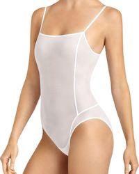 Item M6 All Mesh Shape Bodysuit - White