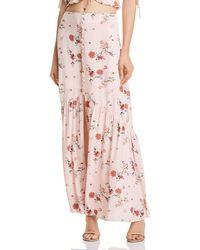 Lost + Wander - Lost + Wander Rosa Floral Print Maxi Skirt - Lyst