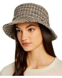 Hat Attack Packable Check Bucket Hat - Black