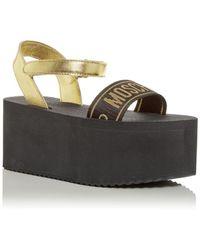 Moschino Platform Sandals - Black