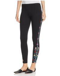 Johnny Was | Clover Embroidered Leggings | Lyst
